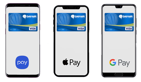Mobile Pay options at Day Air Credit Union